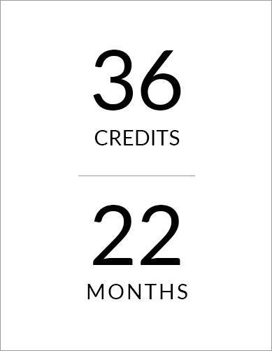 22-month program, 36 credit hours
